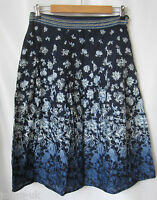 NEW LADIES MARKS & SPENCER PER UNA COTTON FLORAL PRINT SKIRT- UK SIZE 8 -20 -