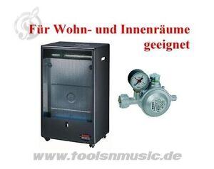 Rowi Blue Flame 4200W Gasofen, Heizer mit 2 Heizstufen+Regler für Innenräume HGO