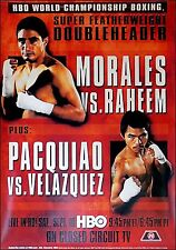 Erik Morales vs. Zahir Raheem and Manny Pacquiao vs. Hector Boxing Fight Poster