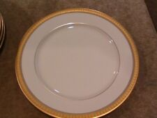 "MIKASA CHINA PALATIAL GOLD L3234 PATTERN BREAD PLATE 6-3/4"" DIAMETER"