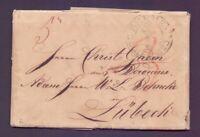 Vorphilabrief Bremen 1823 mit großem Schlüssel-Stempel nach Lübeck (405)