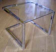 Small glass and chrome coffee table, Graham & Green c.2000, Great condition