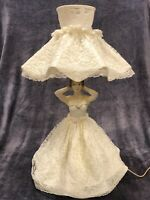 Vintage Celluloid Plastic Lady Lamp -Boudoir Lamp - Works!  Kitsch decor 1950/60