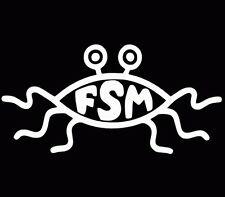 Flying Spaghetti Monster FSM Decal Window Sticker Car Truck White