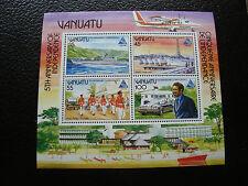 VANUATU - timbre yvert et tellier bloc n° 8 n** (Z4) stamp (A)