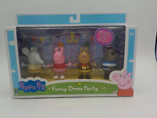 Peppa Pig Fancy Dress Party 4-Figure Pack with Elephant Pig Pony Dog AGES 2+