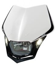 Mascherina Faro Anteriore Moto Rtech V-face LED Bianco White Headlight Enduro