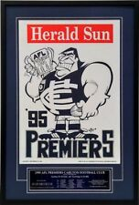 Framed 1995 Carlton Blues WEG Premiership Poster