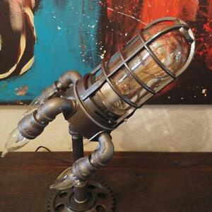 Early Father's Day∣Steampunk Style Table Lamp Rocket Lamp Retro Lights Decor