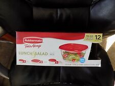 New listing Rubbermaid Take Alongs Lunch & Salads To-Go-Pack 12 Containers +Lids New Htf