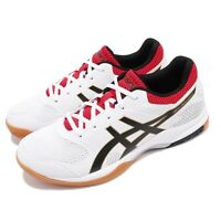 Asics Gel-Rocket 8 White Black Red Gum Men Volleyball Badminton Shoes B706Y125