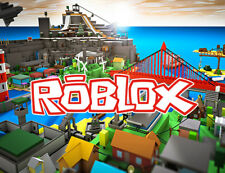 Roblox logo and city game - quality printed mouse mat pad FREE P&P gift idea