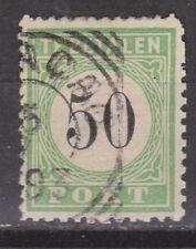 P10 Port nr 10 type 3 used gebruikt Curacao, Nederlandse Antillen due portzegel