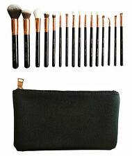 Zoe London 16 Pcs Rose Gold Makeup brush set Luxury brushes with case best gift