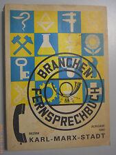 Branchen -Fernsprechbuch Bezirk Karl-Marx-Stadt Deutschen Post 1983
