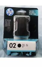1x Genuine HP02 Black Ink Cartridge For Photosmart 3110 C5180 C6180 C6270 C7180