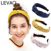 Ladies Knot Headband Fabric Hairband Solid Head Band Hair Band Accessories Plain