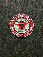Texaco filling station motor oil heavy cast iron gas pump display advertisement