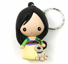 "Disney 3D Figural Keyring Princesses Series 9 MULAN KEYCHAIN 3"" Opened Blind Bag"