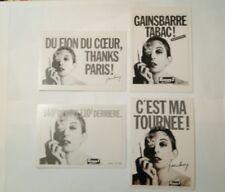 4 carte postales Serge Gainsbourg publicitaires Europe 1