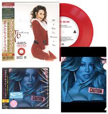 "CAUTION JAPAN CD wBONUST+CLEARFILE+STICKER+CHRISTMAS 7"" RED VINYL! MARIAH CAREY"