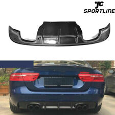 Carbon Fiber Rear Bumper Diffuser Spoiler Lip Chin Fit For Jaguar XE 2015-2017