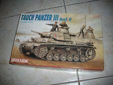 DRAGON TAUCH PANZER III AUSF.H   PLASTIC MODEL 1/35