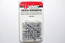 vmc bass neko rig weights easy penetration 10 per pack 3/32oz nkw332-nat