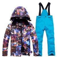 Kids Ski Suit  Waterproof Windproof Snow Set Pants Skiing Snowboarding Jacket