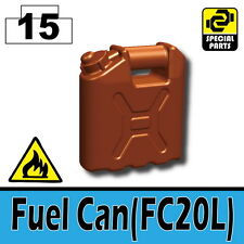 Reddish Brown Fuel Can (W120) Army Equipment compatible w/ toy brick minifigures
