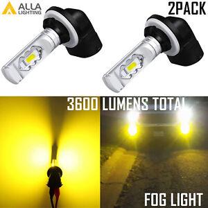 Alla Lighting LED 881 Golden Yellow Fog Light Bulb for Chevrolet Nissan Hyundai