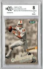 New listing 1998 Fleer Ultra Peyton Manning Gold Medallion Rookie BCCG Graded 8 #201G Colts