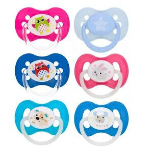 Baby Dummy Pacifier BOY&GIRL Silicone orthodontic shape Mix designs 6-18m/18m+UK