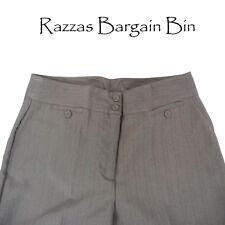 New Ladies Brown Pin Striped Pants Plus Size 18 (1330)HE