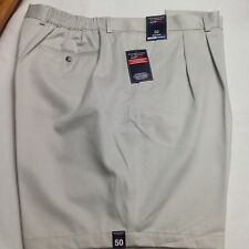 Roundtree &Yorke Big Man Travel Smart Shorts Pleated String 50x8 $46 New