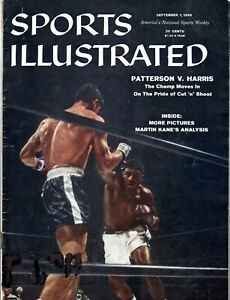 Sports Illustrated Sept. 1, 1958 - Patterson vs. Harris Cover, Ex Condition!
