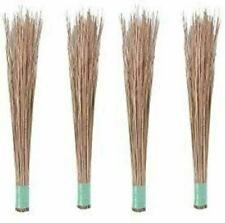 100% Natural Coconut Leaf Grass Broom Stick Pack Great Quality Handmade Ceylon