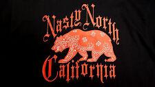 Nasty North Records Herren Shirt Lil Raider Toro Ono Loco Norteno Rap Bay Cali Ufw