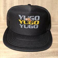 Rare•Vintage•YUGO Car by Zastava Auto•SnapBack•Trucker Hat•Metal Flag Pin•NOS