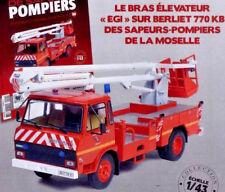 """Fire Truck Bras élévateur """"EGI"""" Berliet 770 KB 1/43 New & box"""