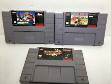 Lot of SNES Super Nintendo Games  Monopoly Mario Pacman