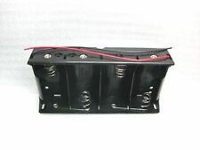 "6 Volt DC- 4 ""D"" Battery Holder w lead wires NEW B17"