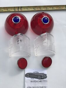 NEW 1956 56 CHEVROLET BEL AIR / 150 / 210 TAIL LIGHT SET WITH BLUE DOT LENS ! !