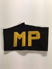 WWII US Army MP Military Police Armband Brassard Yellow Letters
