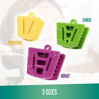 Dental Bite Block Autoclavable Silicone Mouth Props Adult/Child (Bag of 3 Pcs)