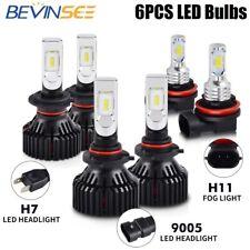 For Mazda 3 2004-2006 LED Headlight High Low Foglight 6x 9005 H7 H11 Combo Bulbs