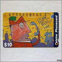 Telstra Fun Card Blah Blah Blah P967123a 1349 $10 Phonecard (PH3)