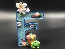 Mary Engelbreit Letter F Me 1999 Flowers Frog Fairy Figurine
