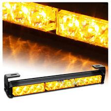 12V 12 LED  Magnetic Car Warning Lights Long Strobe Hazard Emergency Light Amber