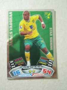 Match Attax 2011/12 - Star Signing card - James Vaughan of Norwich City